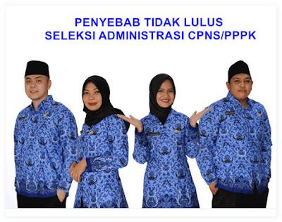 Tidak lulus seleksi adminstrasi berkas CPNS PPPK