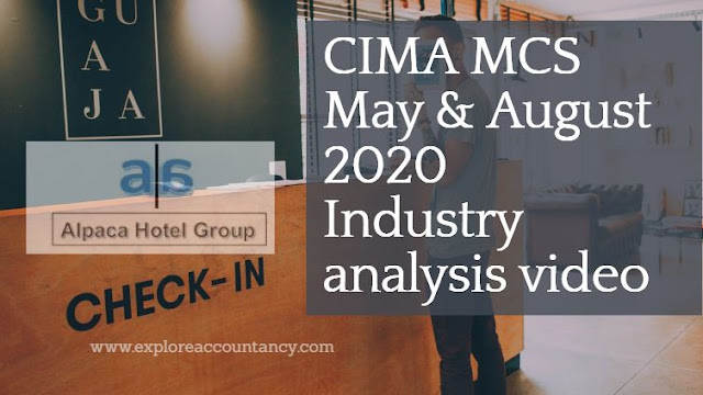 Industry Analysis video MCS May & August 2020 - Alpaca Hotel Group  - CIMA Management Case Study