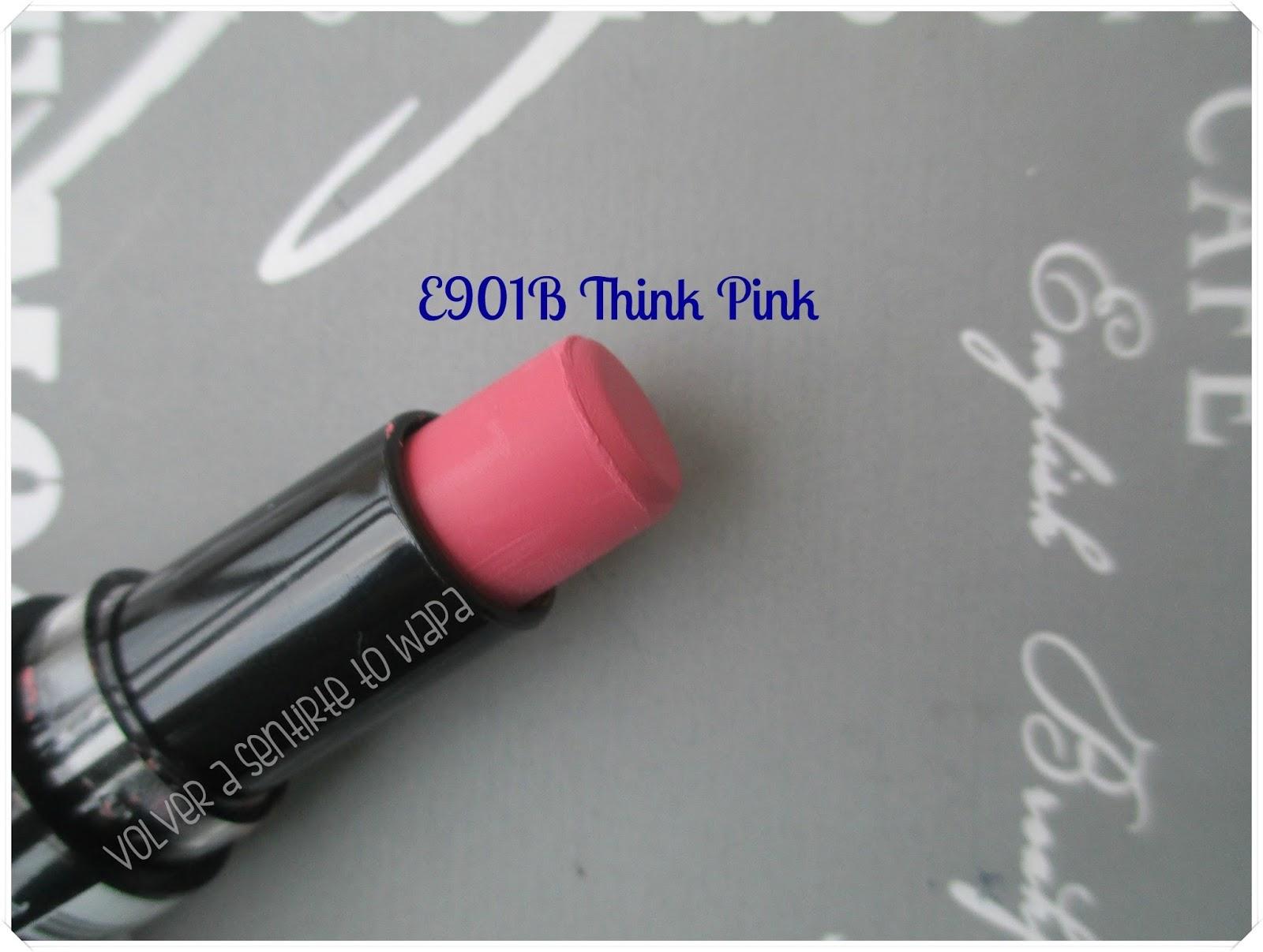 Labiales MegaLast Lip Color de Wet n' Wild - E901B Think Pink