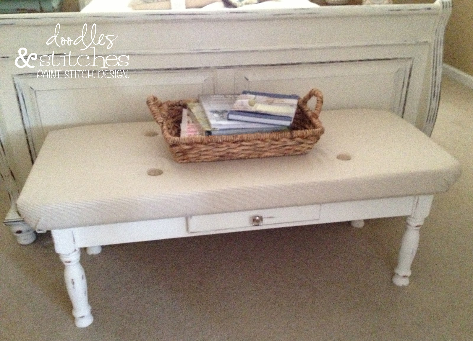 Coffee Table Into A Bench Tufted Bench Doodles Stitches