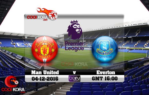 مشاهدة مباراة إيفرتون ومانشستر يونايتد اليوم 4-12-2016 في الدوري الإنجليزي