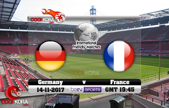 مشاهدة مباراة ألمانيا وفرنسا اليوم 14-11-2017 مباراة ودية
