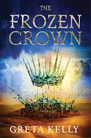 Frozen crown suspended above splash of water