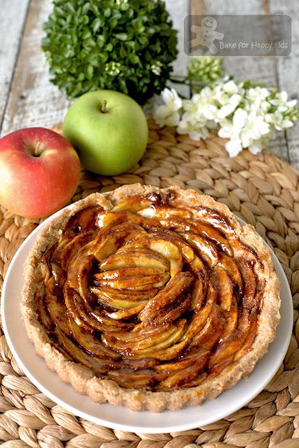 vegan apple tart fuss free