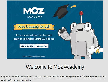 FREE digital Marketing & SEO courses by Moz Accademy in 2020