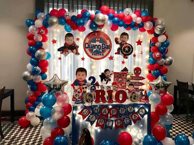 trang trí sinh nhật bé trai tại Hà Nội