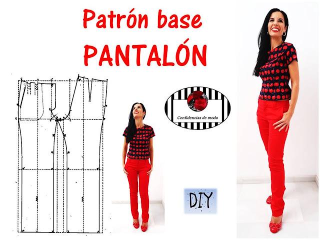 DIY. Cómo hacer el patrón (molde) base de un pantalón
