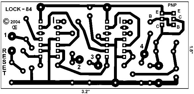 Electronic Combination Lock With Auto Reset Circuit Diagram