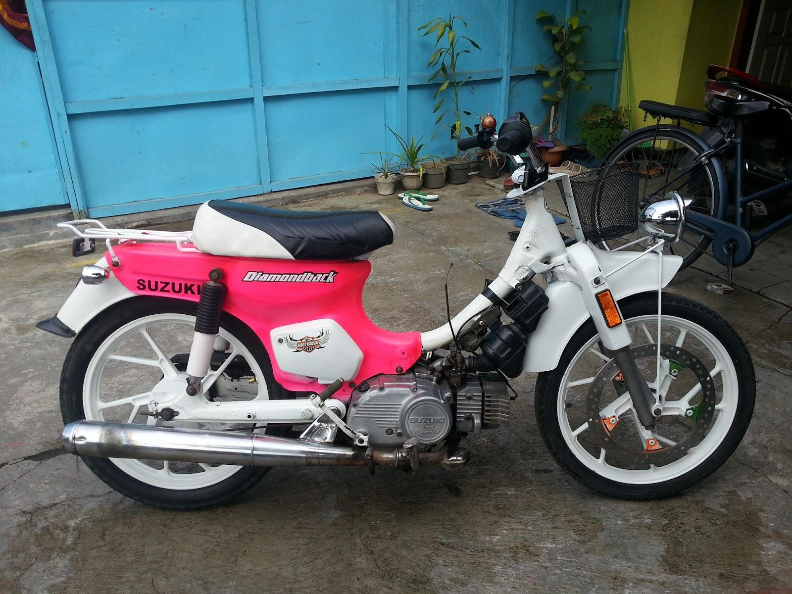 Gambar Modifikasi Motor Suzuki Rc 100 Wacana Modif Motor
