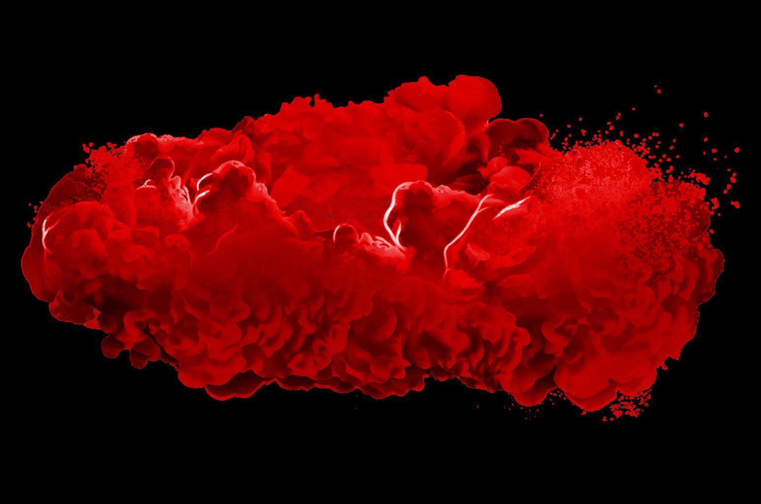 render nube de humo roja