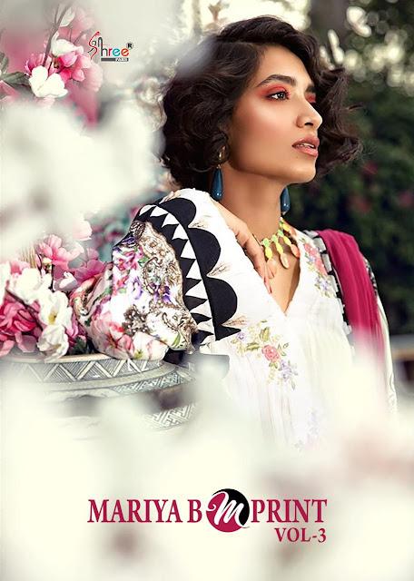 Shree Fab Mariya B Mprint Vol 4 Latest Pakistani Suits Collection