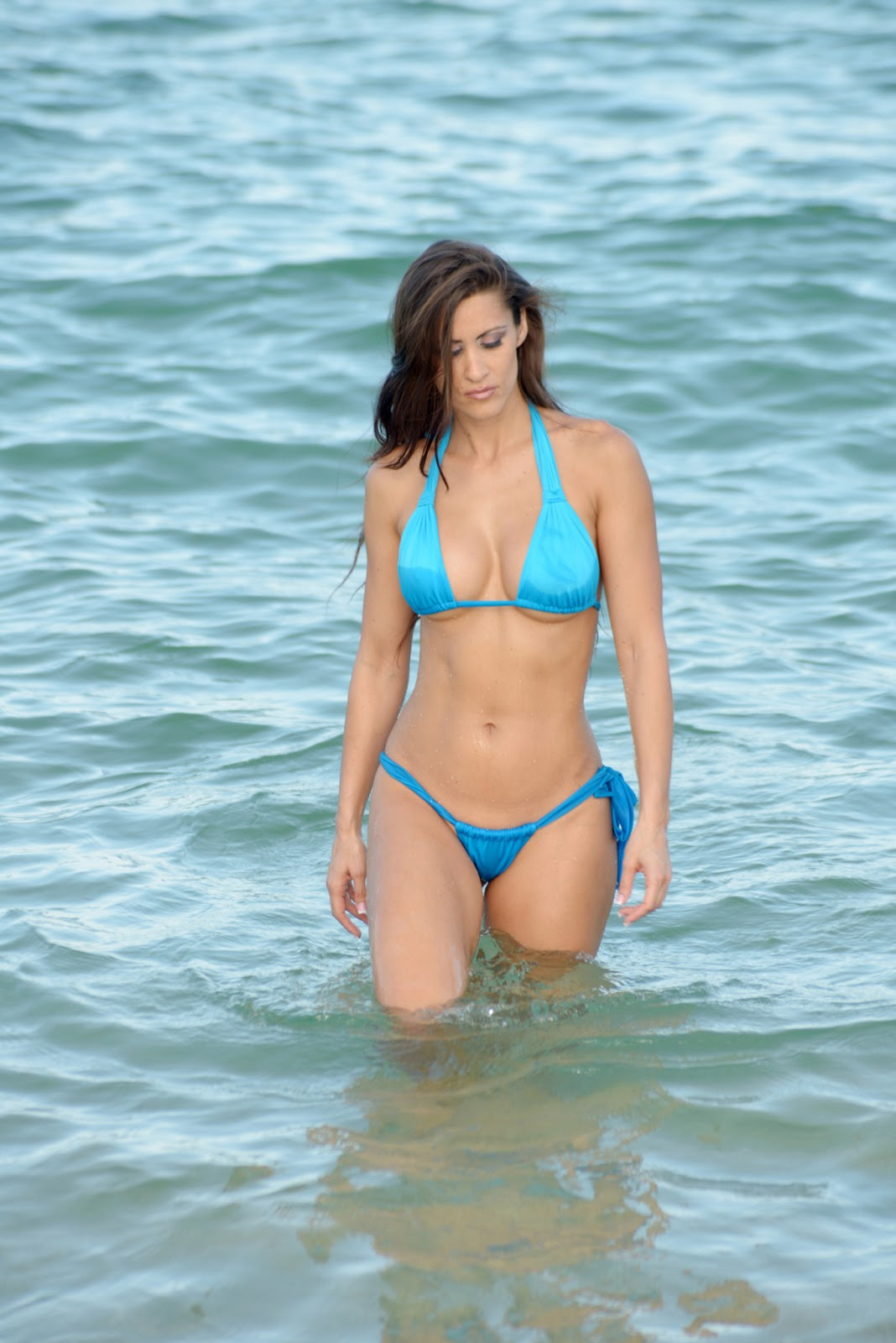 "Anais Zanotti retro bikini: anais zanotti slips into a ""blue bikini"" as"