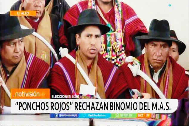 Ponchos Rojos no aceptarán imposición de candidatos así venga del propio Evo Morales