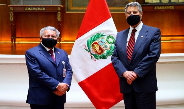 Presidente Sagasti se reunió con el líder de Alianza para el Progreso, César Acuña