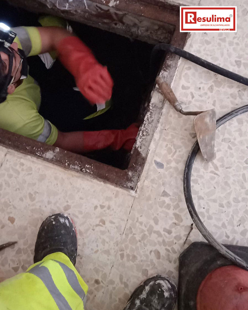 reparación alcantarillado Sevilla