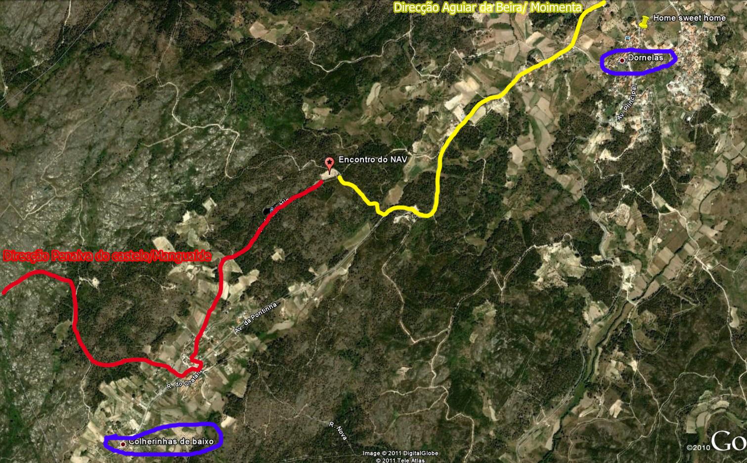 Mapa Dornelas/Colherinhas
