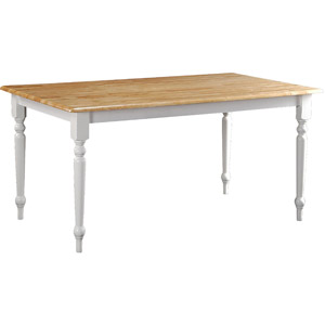 white cottage style farmhouse dining table