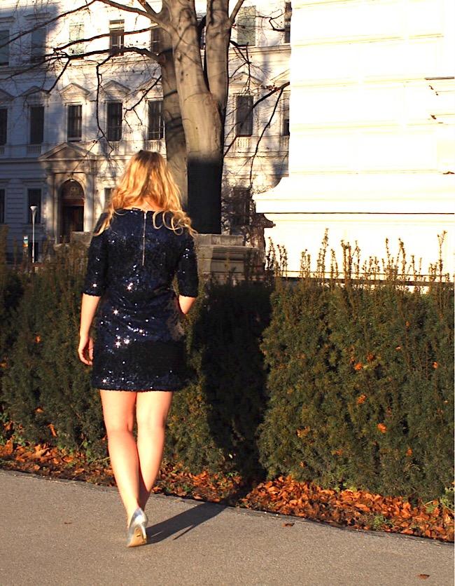 Paillettenkleid Heidi Klum