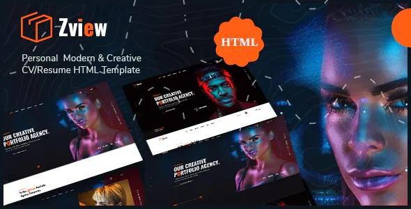 Modern & Creative CV/Resume HTML Template