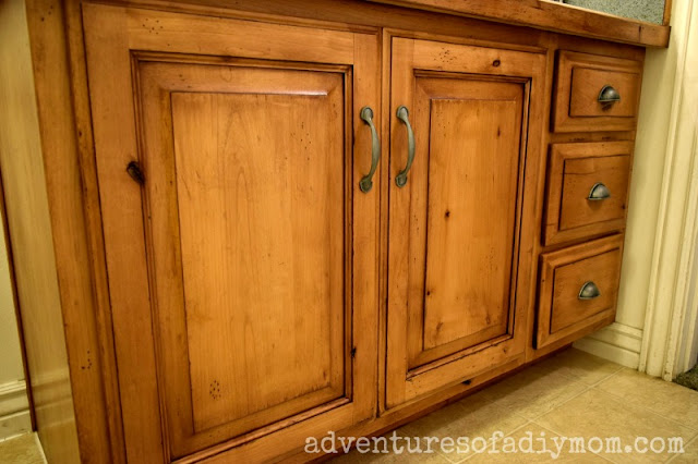 how to glaze cabinets with gel stain - after picture