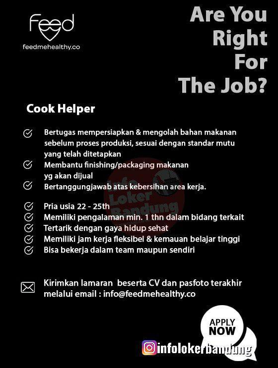 Lowongan Kerja Feedmehealty Bandung Juli 2019