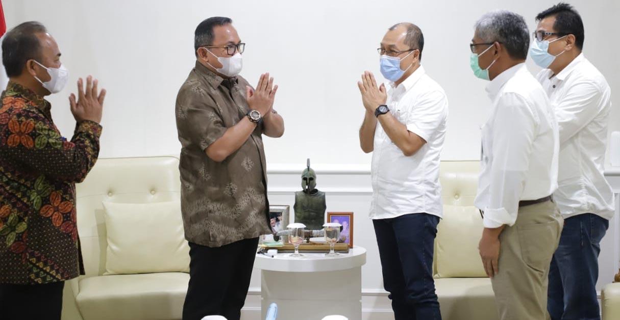 Bupati Musi Banyuasin Dr H Dodi Reza Alex Noerdin menerima Audiensi Jajaran Bank Nasional Indonesia (BNI) Region Sumbagsel dan Lampung