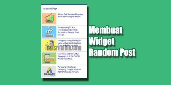 2 Cara Membuat Random Post + Thumbnail di Blogger Yang Ringan