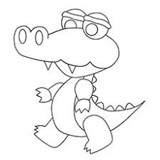 Cute Baby Crocodile Coloring Pages