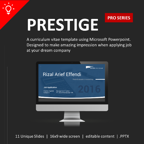 Contoh CV Profesional Format Powerpoint