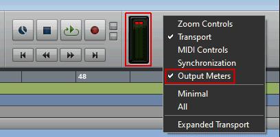Pro Tools Edit Window Output Meters