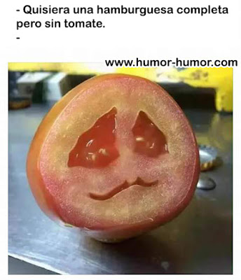 Hamburguesa completa sin tomate (Humor)