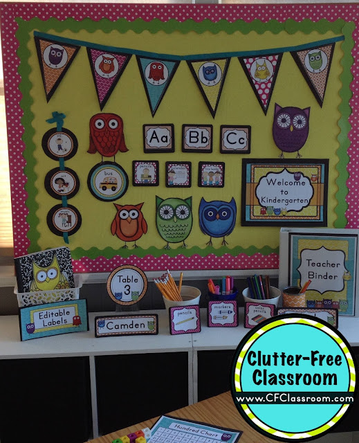Classroom Decoration Printables ~ Owls themed classroom ideas printable