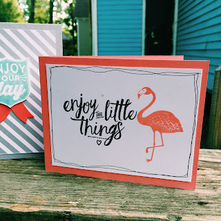 Card made with Layering Love and Pop of Paradise by Spread Joy Stamping