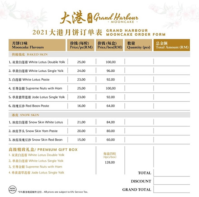 Grand Harbour Restaurants Mooncakes & Premium Gift Box Review, Grand Harbour Restaurants, 2021 Mooncake Review,  Premium Gift Box Review, Food