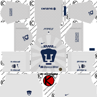 Pumas UNAM 2019/2020 Kit - Dream League Soccer Kits