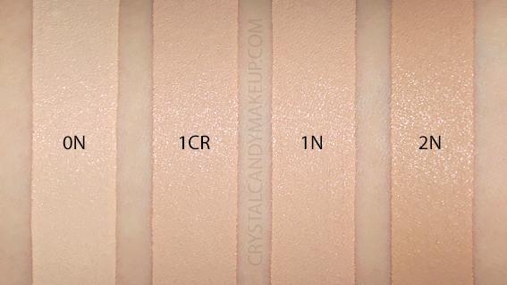 Dior Forever Skin Correct Creamy Concealer Swatches 0N 1N 2N 1CR MAC NC10 NC15 NW20 NC25 NC30