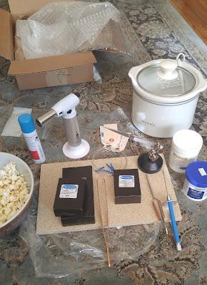 Rio Grande Package soldering silver torch flux charcoal block crock pot popcorn christmas jewelry handmade