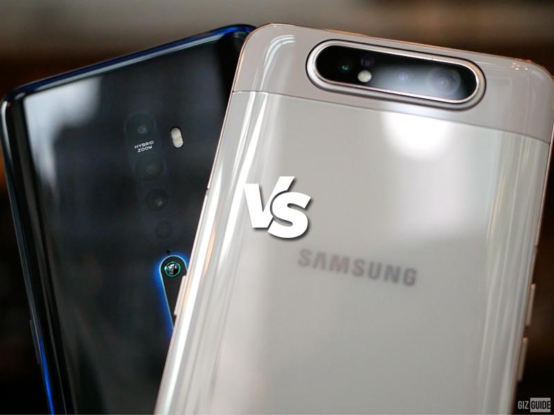 Samsung Galaxy A80 Specs vs OPPO Reno2 Specs Comparison