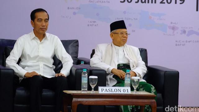 Sah! KPU Tetapkan Jokowi-Kiai Ma'ruf Presiden dan Wapres Terpilih