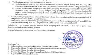 Terbaru! Persyaratan, Tata Cara Pendaftaran dan Jadwal PPG Dalam Jabatan Tahun 2019 Sesuai Surat Edaran Dirjen GTK Nomor :  8963/B.B1.1/PR/2019