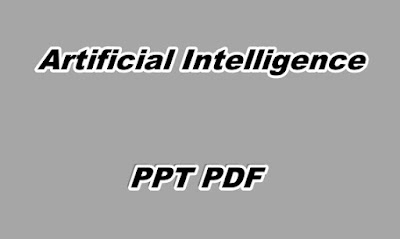 Artificial Intelligence PPT PDF