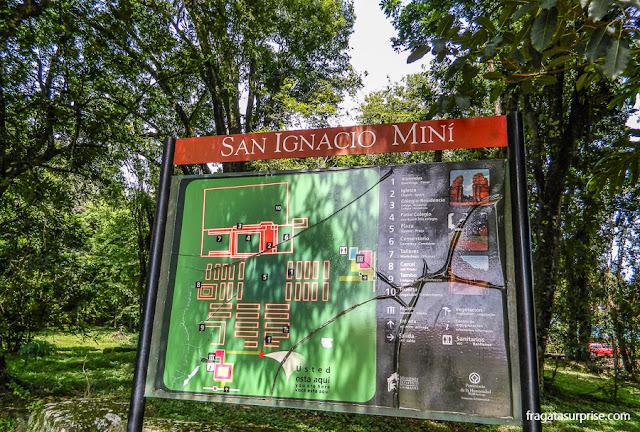 mapa da Missão Jesuítica de San Ignacio Miní