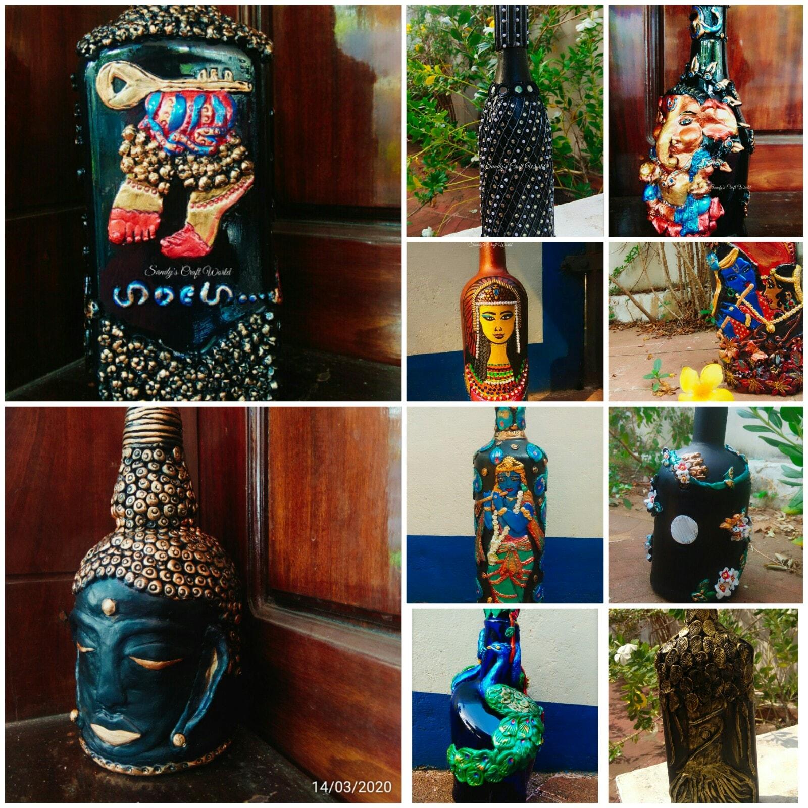 Sandhya Radhakrishnan's botle arts collection