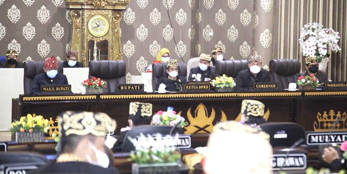 DPRD Waykanan Menggelar Sidang Istimewa Peringatan HUT ke-22 Kabupaten Waykanan