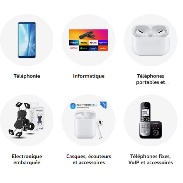 HIGH-TECH : Amazon.fr -  téléphones, smartphones, casques audio, enceintes, Hi-Fi, appareils photo, GPS, accessoires, objets connectés