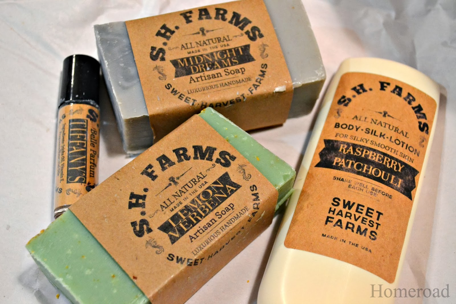 S.H.Farms all natural soap www.homeroad.net