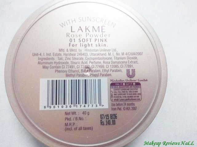 Lakme Rose Loose Powder with Suncreen