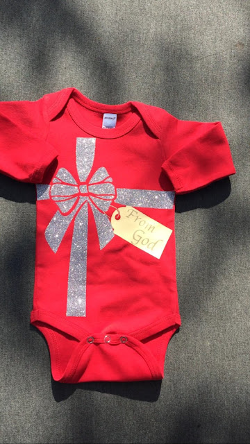 Gift from God Christmas onesie