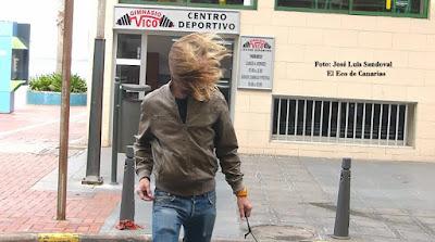 Fuerte viento Gran Canaria 7 enero Las Palmas de Gran Canaria