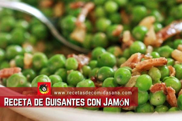 Receta de Guisantes con Jamón de www.recetasdecomidasana.com